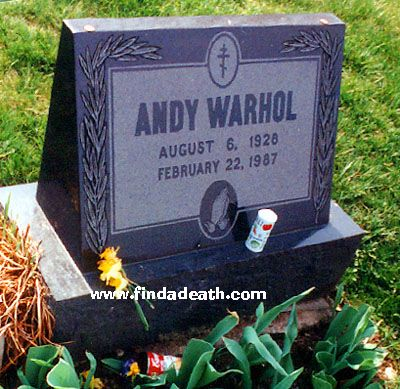 Andy Warhol's Tombstone