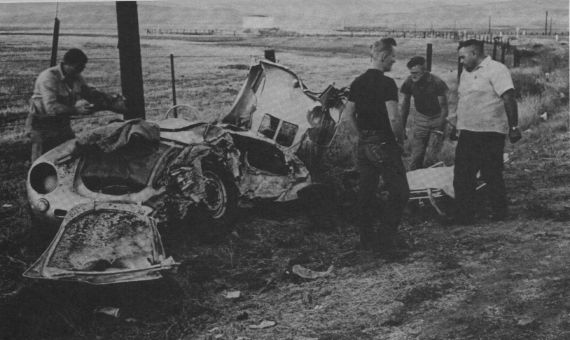 James Dean's mangled Porsche.