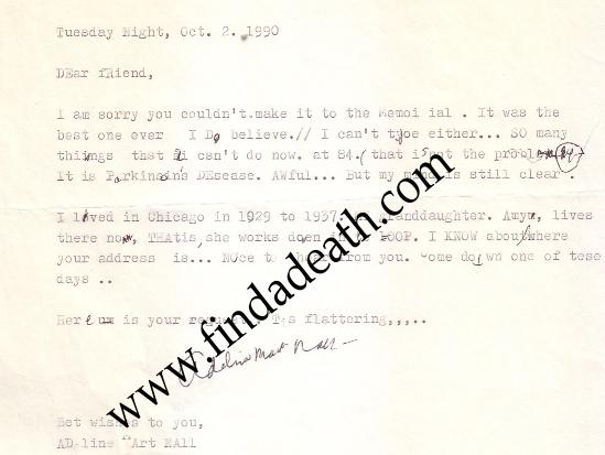 Adeline's Letter
