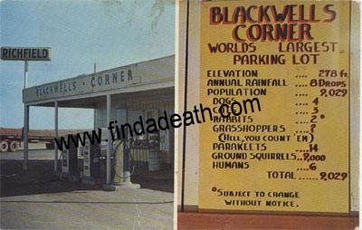James Dean - Blackwells Corner Gas Station