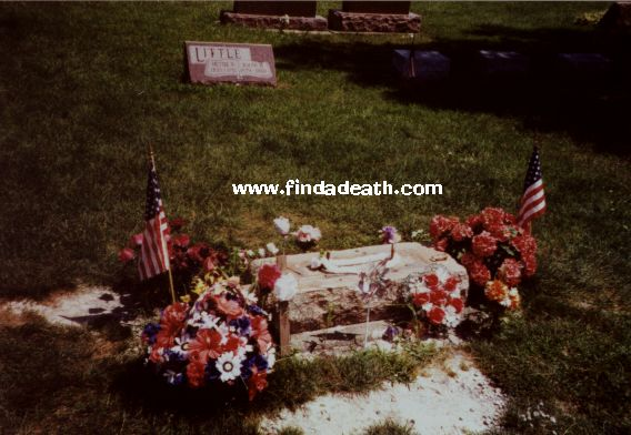 James Dean's missing tombstone.