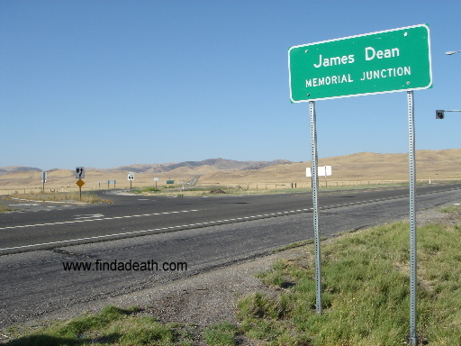 James Dean's Memorial Junction sign.