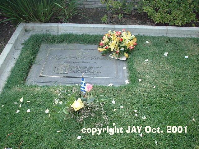 Telly Salavas' Grave